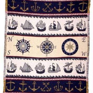 Throw Blanket - Maritime Theme