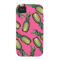 Pineapple Pattern Vibe iPhone 4 Case from Zazzle.com