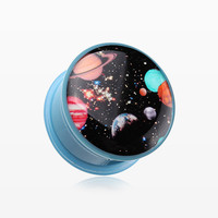 A Pair of Galaxy Daze Single Flared Ear Gauge Plug