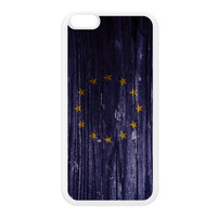 Vintage Wood Flag of European Union - Europe - EU Flag White Silicon Rubber Case for iPhone 6 Plus by UltraFlags