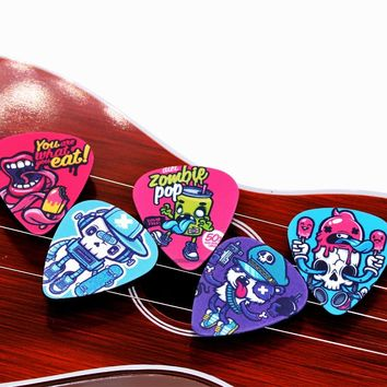 10pcs Bass Guitar Picks Multi Smooth ABS Custom Acoustic Electric Guitarra Plectrums Accessories Musical Instrument Puas 2S2-9