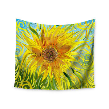 "Catherine Holcombe ""Syaured"" Yellow Green Wall Tapestry"
