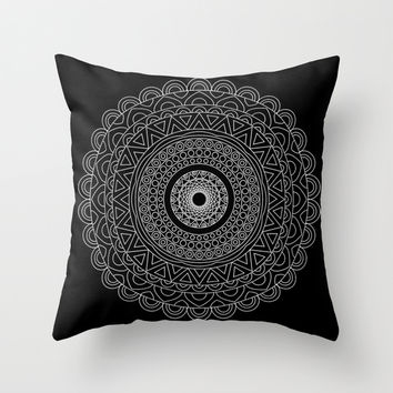 Boho mandala Throw Pillow by Ummuhan Uslu