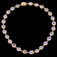 Moonstone 18 k Yellow Gold Necklace Handmade Fashion Jewelry