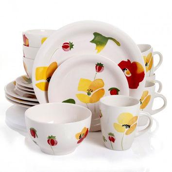 Gibson Home Haleyville 16-piece Stoneware Dinnerware Set | Overstock.com Shopping - The Best Deals on Casual Dinnerware
