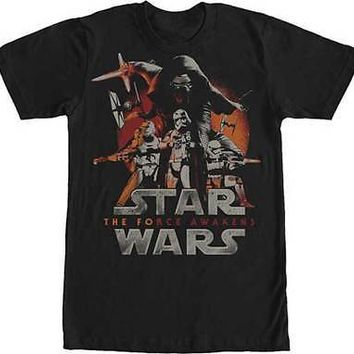 New STAR WARS THE FORCE AWAKENS  POSTER T  SHIRT  Officially Licensed Apparel