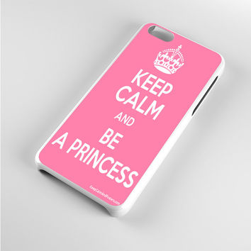 Keep calm and be a princess Pink iPhone 5c Case