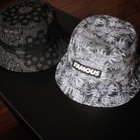 Fashion Cashew flowers paisley 3D weed leaf printed floral bucket hat