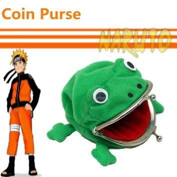 Naruto Sasauke ninja  Anime Around Cute  Frog Wallet Purse Metal buckle Keychain frog wallet AT_81_8