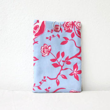 Floral Kindle case, pink & blue 7 inch tablet cover, padded tablet sleeve, nexus 7, kindle fire, Samsung galaxy tab 7, handmade in the UK
