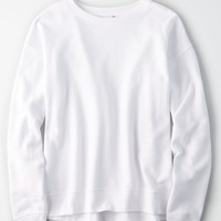 AE Lived & Loved Crew Sweatshirt, White