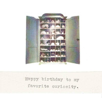 Favorite Curiosity Birthday Card | Funny Birthday Card Cabinet Of Curiosities Natural History Humor
