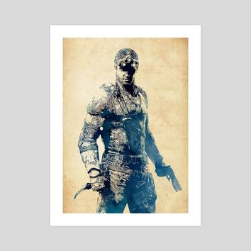A Tribute to Sam Fisher, an art print by Dusan Naumovski