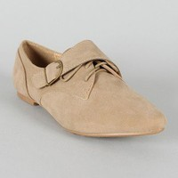 Deby-1 Buckle Strap Pointy Toe Flat