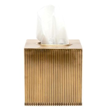 Redon Antique Brass Bath Accessories Collection | Tissue Box