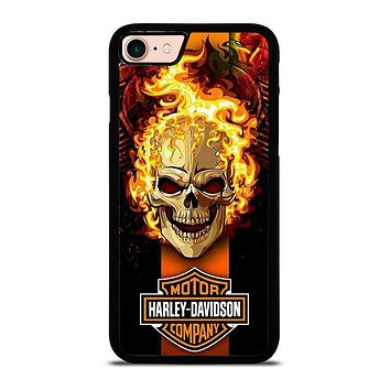 HARLEY DAVIDSON SKULL FIRE iPhone 8 Case Cover
