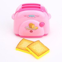 DCCKL72 Mini Toaster Classic Toys Pretend Play Toys Home Application Furniture Toy Kitchen For Girls Boys Gift Drop Shipping