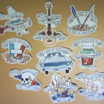 Twenty One Pilots Sticker Set (Full Set)