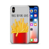 Fries Before Guys Clear Phone Cover
