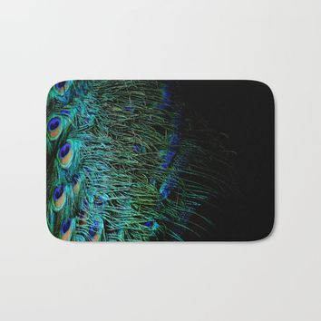 Peacock Details Bath Mat by ARTbyJWP