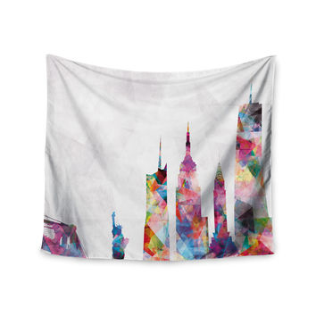 "Mareike Boehmer ""New York"" Rainbow City Wall Tapestry"