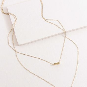 Strike A Pose Bar Layered Necklace