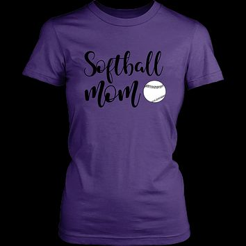 Softball mom-t-shirt-funny-summer-moms-mother's day-gift-shirts with sayings-cotton-multiple colors