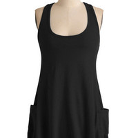 Trapeze-y Going Tank in Black | Mod Retro Vintage Short Sleeve Shirts | ModCloth.com
