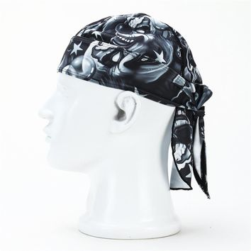 6 Colors Quick Drying Pure Cycling Cap Head Scarf Headscarf Headband Summer Running Riding Pirate Hat Hood For Men High Quality