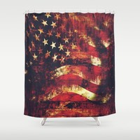 Old Glory Shower Curtain by Timothy Davis