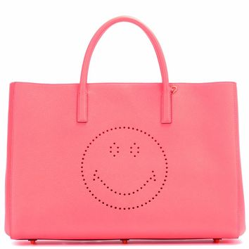 Ebury Maxi Smiley leather shopper