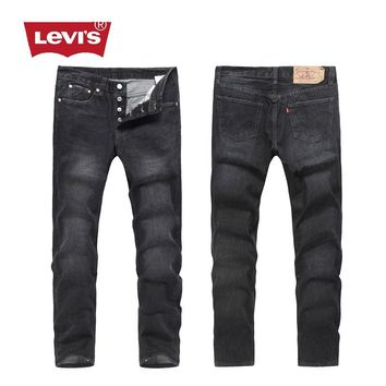 2017 Levi's Fashion 501 Series Classic Breathable Men's Denim Pants Casual Biker Jeans Retro Trousers Men Jeans Women Jeans