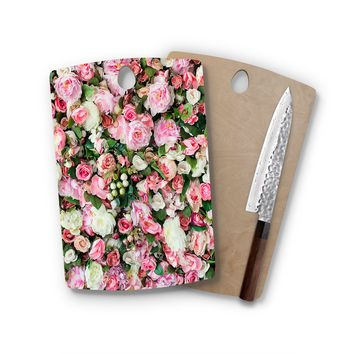 Flower Wall Rectangle Cutting Board Trendy Unique Home Decor Cheese Board