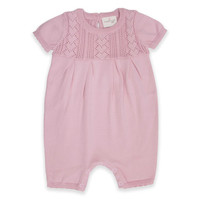 Cuddl Duds® Pointelle Coverall in Pink