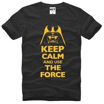 Star Wars Force Episode 1 2 3 4 5 Keep Calm and Use The Force Print  Movie T Shirt Tshirt Mens Men Fashion 2016 Cotton T-shirt Tee Shirt Homme AT_72_6
