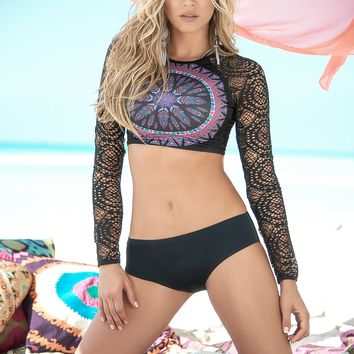 Dream Catcher Long Sleeve Bikini Set