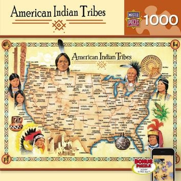 American Indian Tribes - 1000 Piece Jigsaw Puzzle