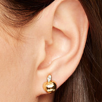 Kate Spade  Apple of My Eye Gold Studs Earrings