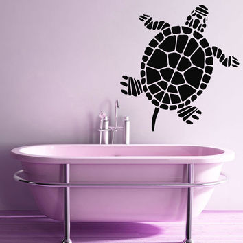 Wall Decals Nautical Vinyl Sticker Bathroom Decor Sea Animal Turtle Decal Kj22