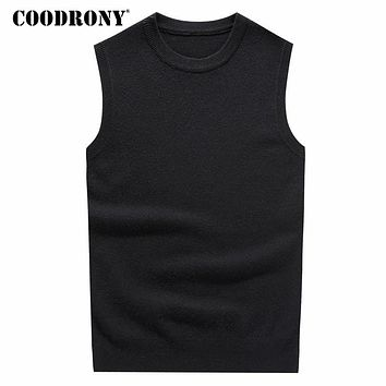 O-Neck Sleeveless Vest Sweater Men Winter Thick Warm Cashmere Sweaters Pull Home Merino Wool Vests