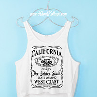 West Coast CALI Crop Tank Top