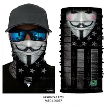 3D Seamling Fish Scarf bicycle Camouflage Skull Mask Outdoor Bandana Headwear Headband Hiking neck warmer Neck tube Acive men