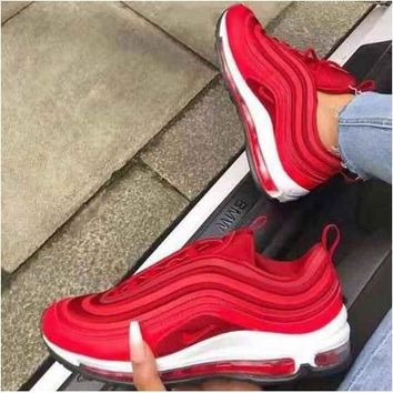 [ready stock] original NIKE air max 97 Red yekkow  green cool pink  rubber shoes