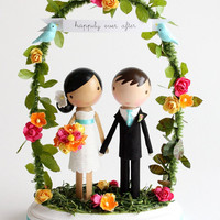 custom cake topper with arch by lollipopworkshop on Etsy