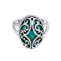 Bling Jewelry Caged Turquoise Ring