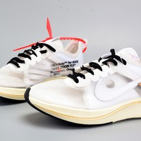 Jacklish Virgil Abloh Off-white X Nike Zoom Vaporfly Fly Sp The Ten For Sale