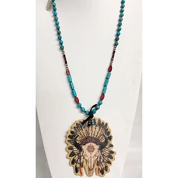 XOXO Art~ Buffalo Headdress Necklace