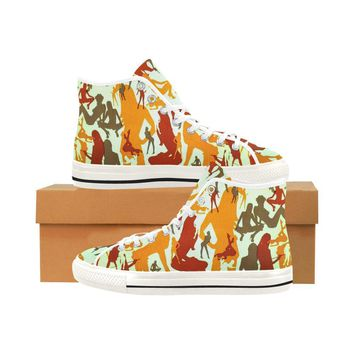Sexy Girls Design 1 Vancouver High Top Canvas Women's Shoes
