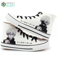 Christmas gift 2016 spring Men women casual canvas shoes plimsolls Japanese anime Tokyo Ghoul print shoes