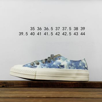 Kuyou Fa19630 Converse Ct 70 Hi 1970s Tie-dyed Canvas Low Top Shoes